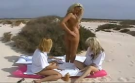 3 hot blondes horny as hell