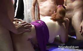 Cumming on her butt cheeks